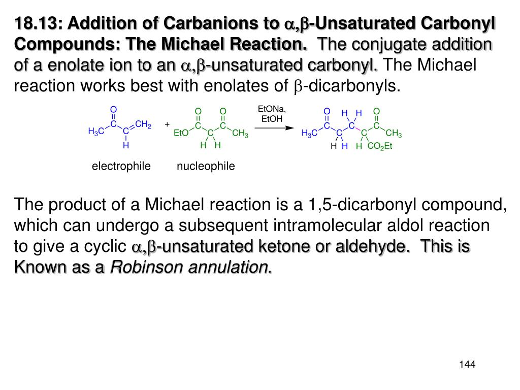 18.13: Addition of Carbanions to