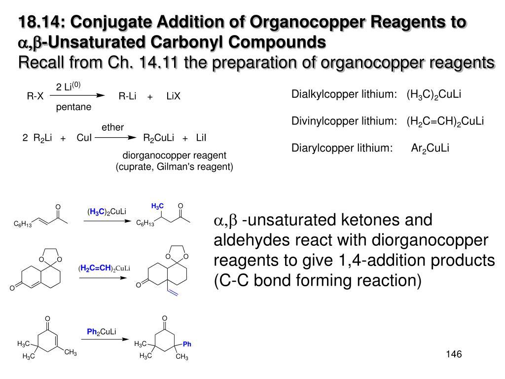 18.14: Conjugate Addition of Organocopper Reagents to