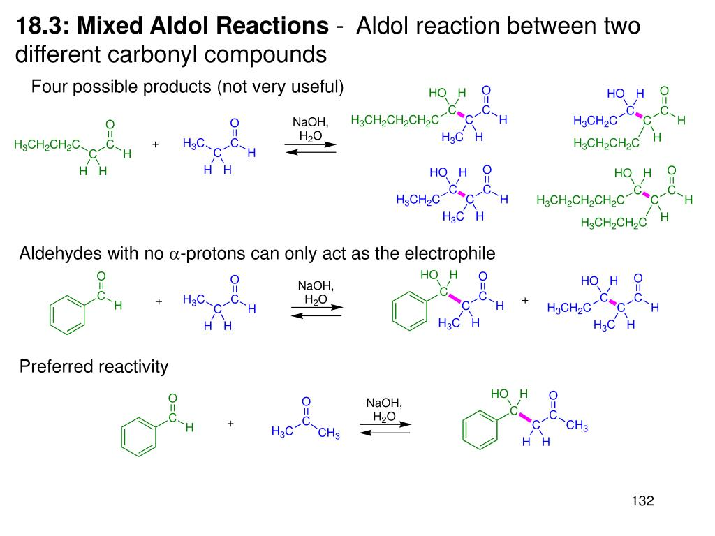 18.3: Mixed Aldol Reactions