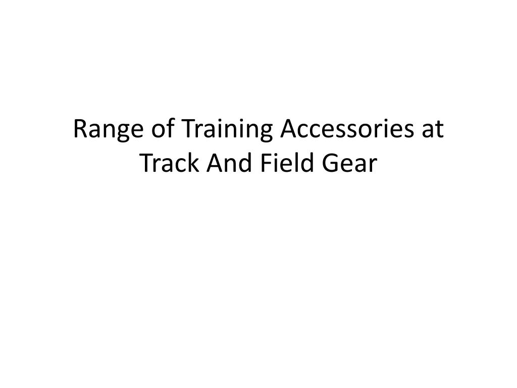 range of training accessories at track and field gear l.