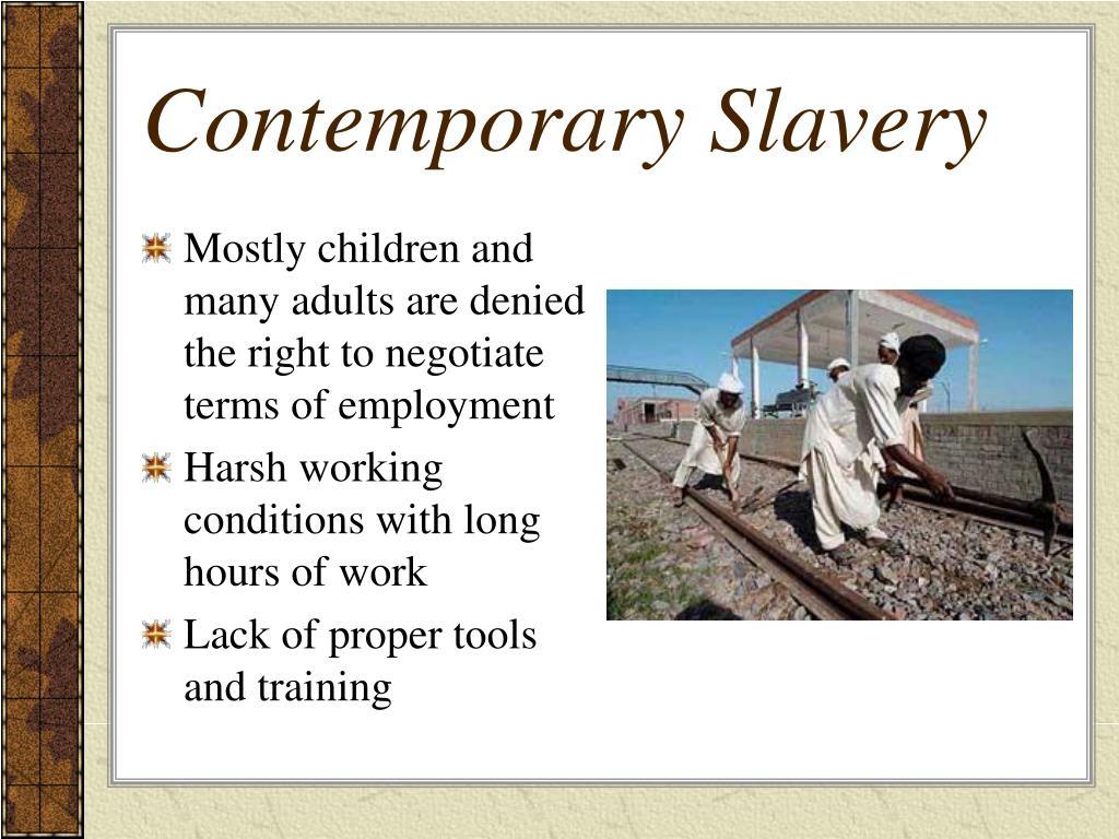 Contemporary Slavery