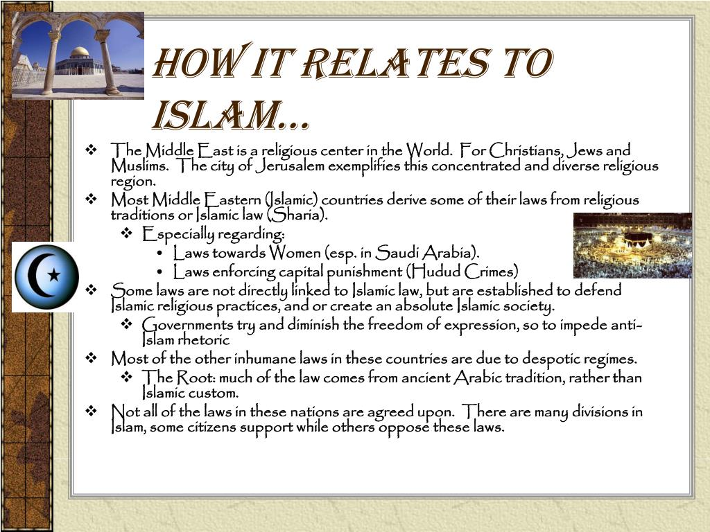 How it relates to Islam…