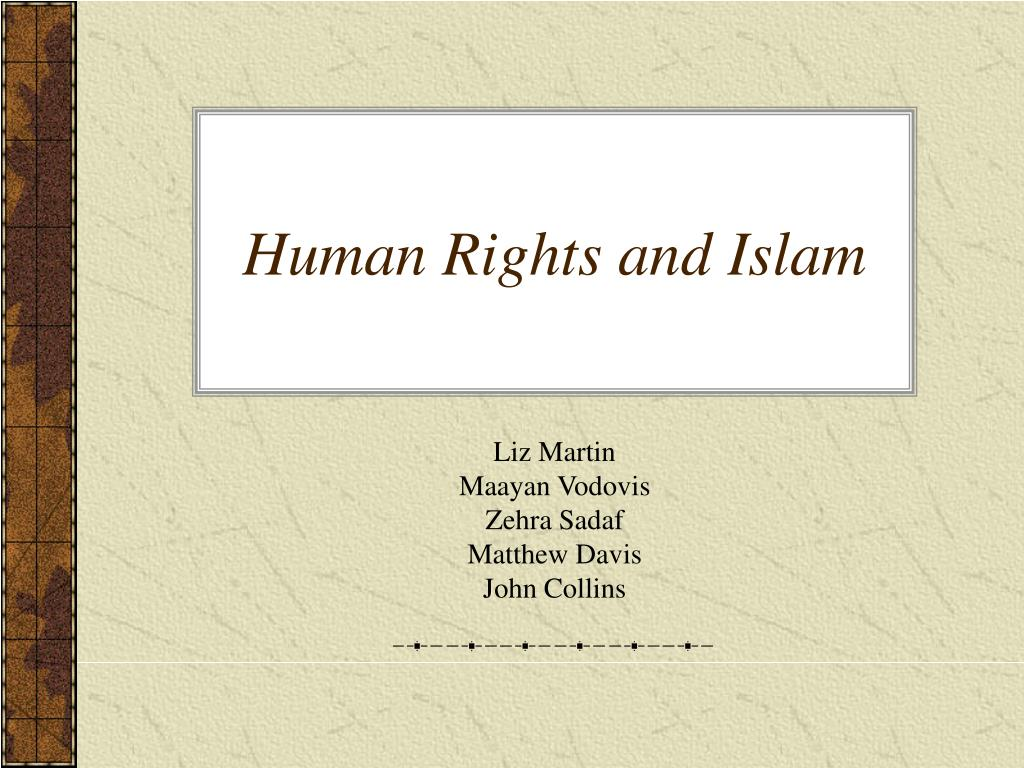 human rights and islam l.