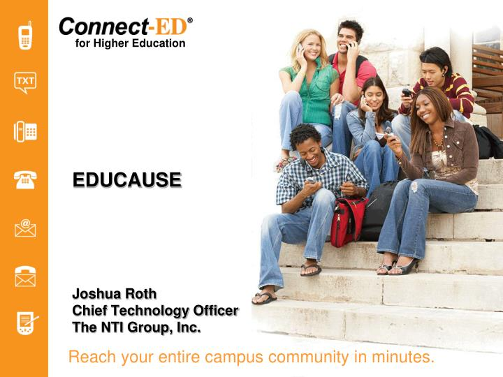 Reach your entire campus community in minutes