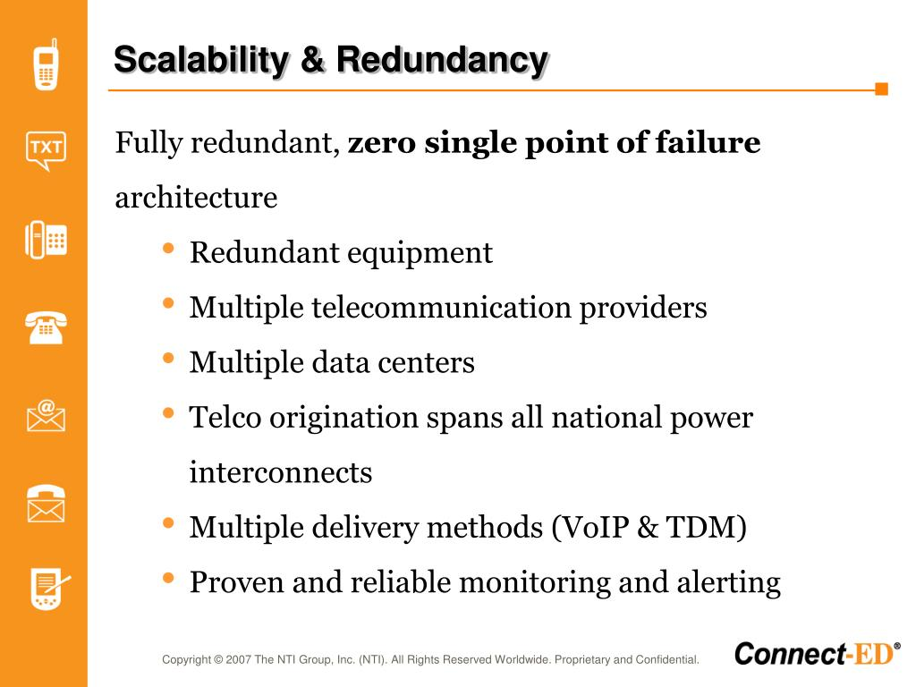 Scalability & Redundancy