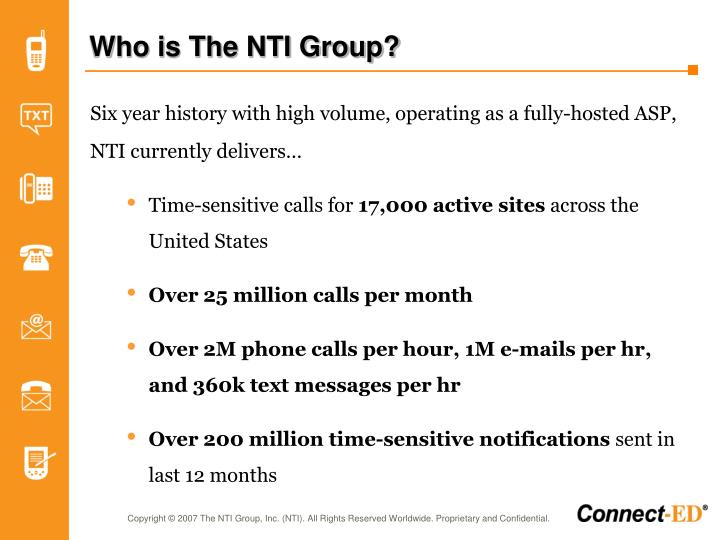 Who is the nti group
