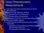 direct potentiometric measurements