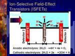 ion selective field effect transistors isfets
