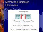 membrane indicator electrodes14