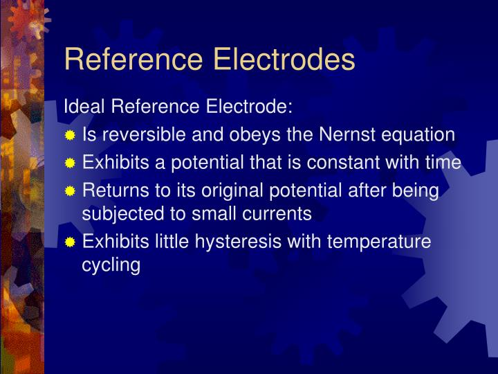 Reference electrodes3