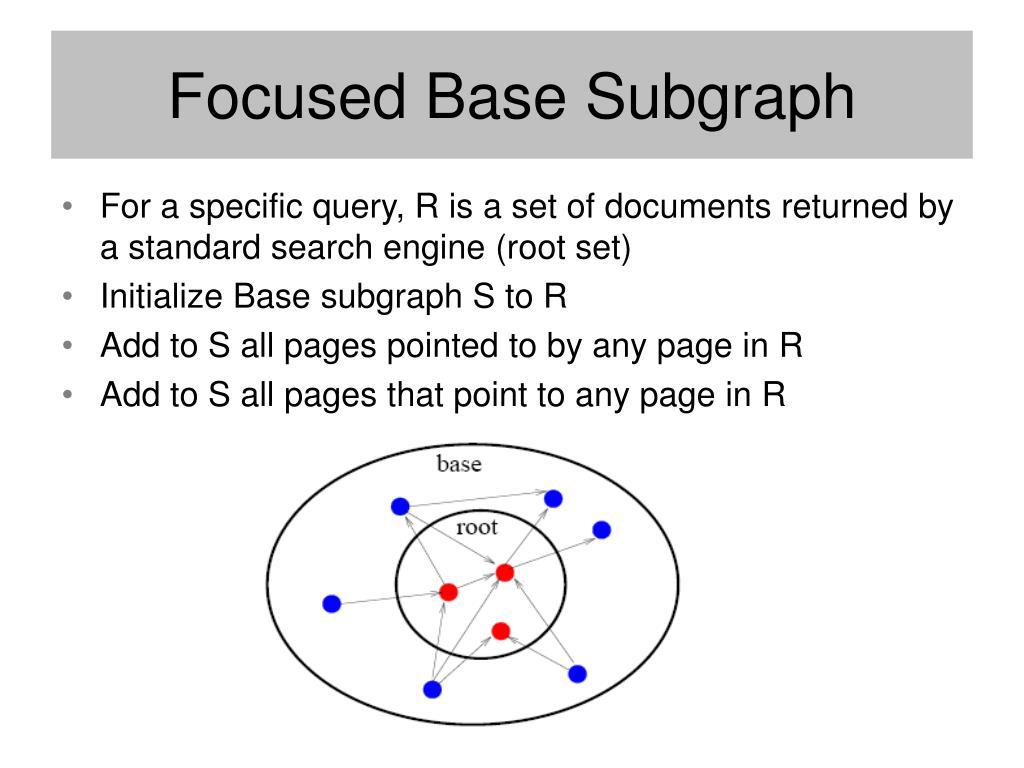Focused Base Subgraph