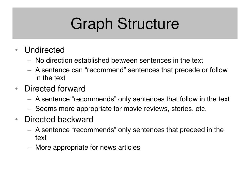 Graph Structure