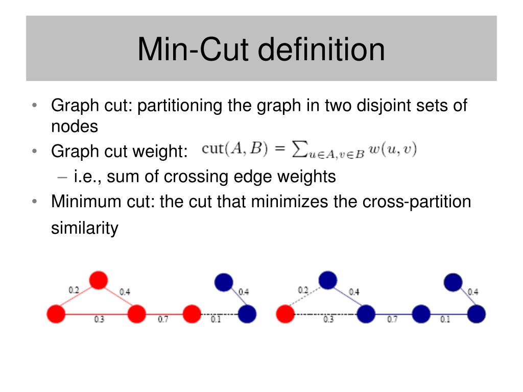 Min-Cut definition