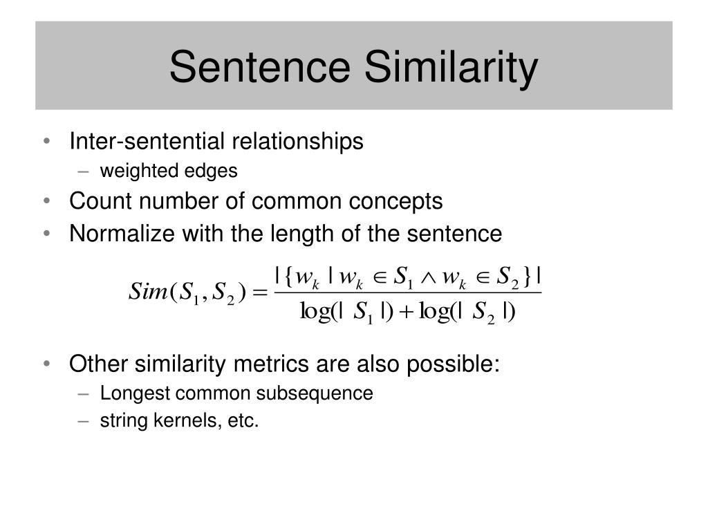Sentence Similarity