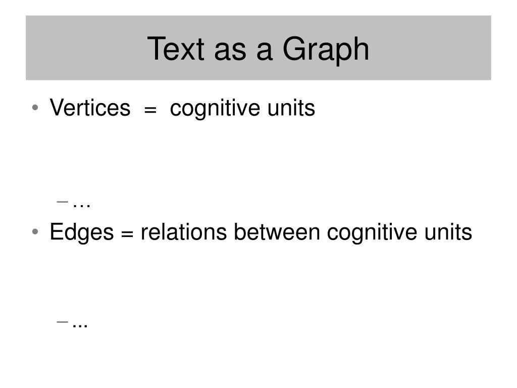 Text as a Graph
