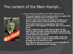 the content of the mein kampf