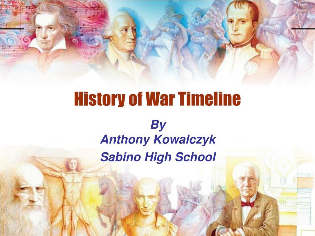 history of war timeline l.