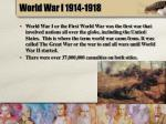 world war i 1914 1918