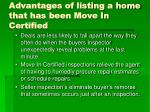 advantages of listing a home that has been move in certified4