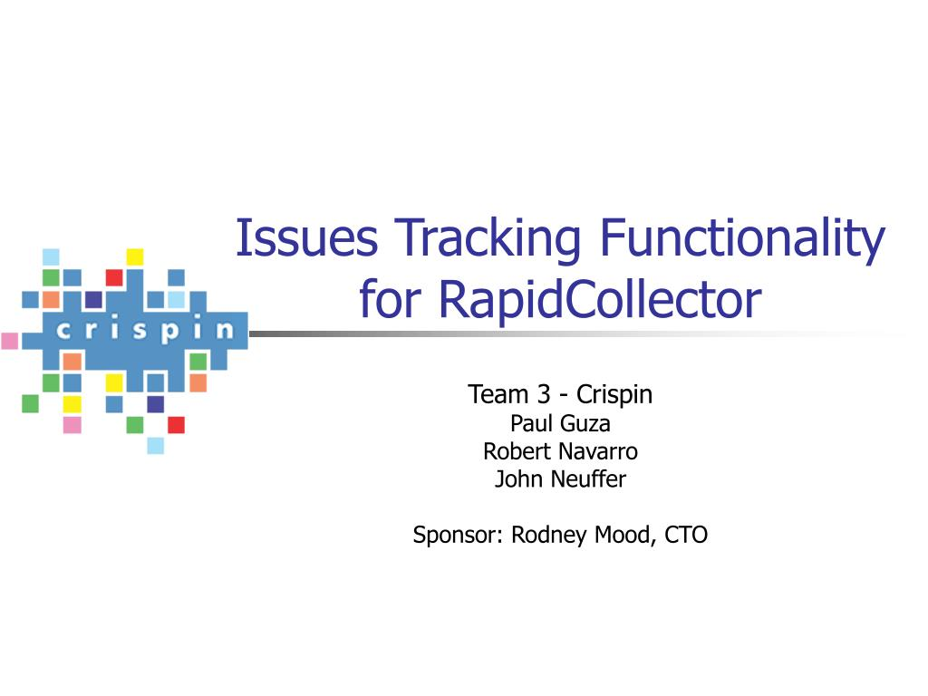 issues tracking functionality for rapidcollector l.