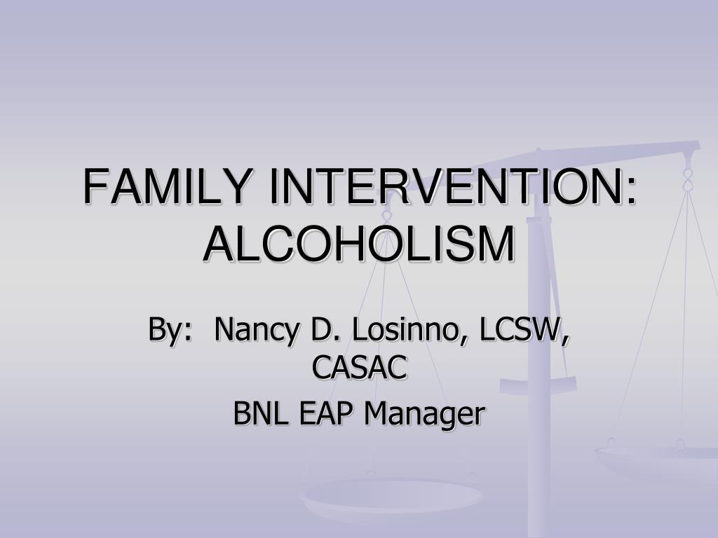 family intervention alcoholism l.