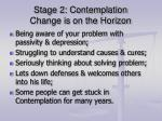 stage 2 contemplation change is on the horizon