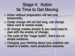 stage 4 action its time to get moving