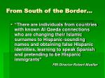 from south of the border