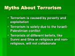myths about terrorism