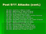 post 9 11 attacks cont