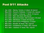 post 9 11 attacks