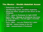 the mentor sheikh abdullah azzam