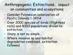 anthropogenic extinctions impact on communities and ecosystems15