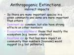 anthropogenic extinctions indirect impacts23
