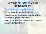current pattern of global endangerment30