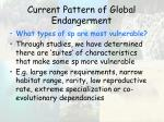 current pattern of global endangerment39