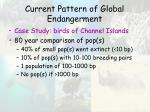 current pattern of global endangerment46