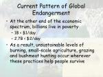 current pattern of global endangerment49