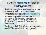 current patterns of global endangerment