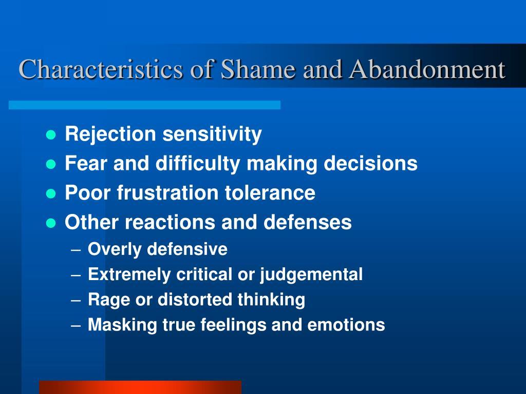 Characteristics of Shame and Abandonment