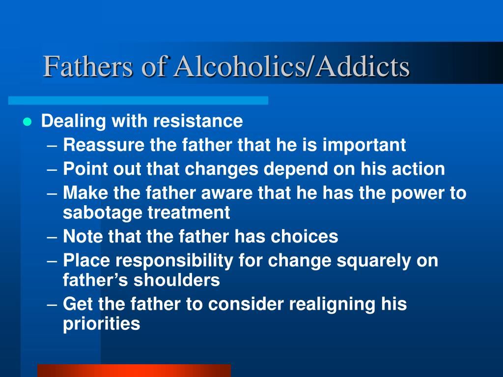 Fathers of Alcoholics/Addicts