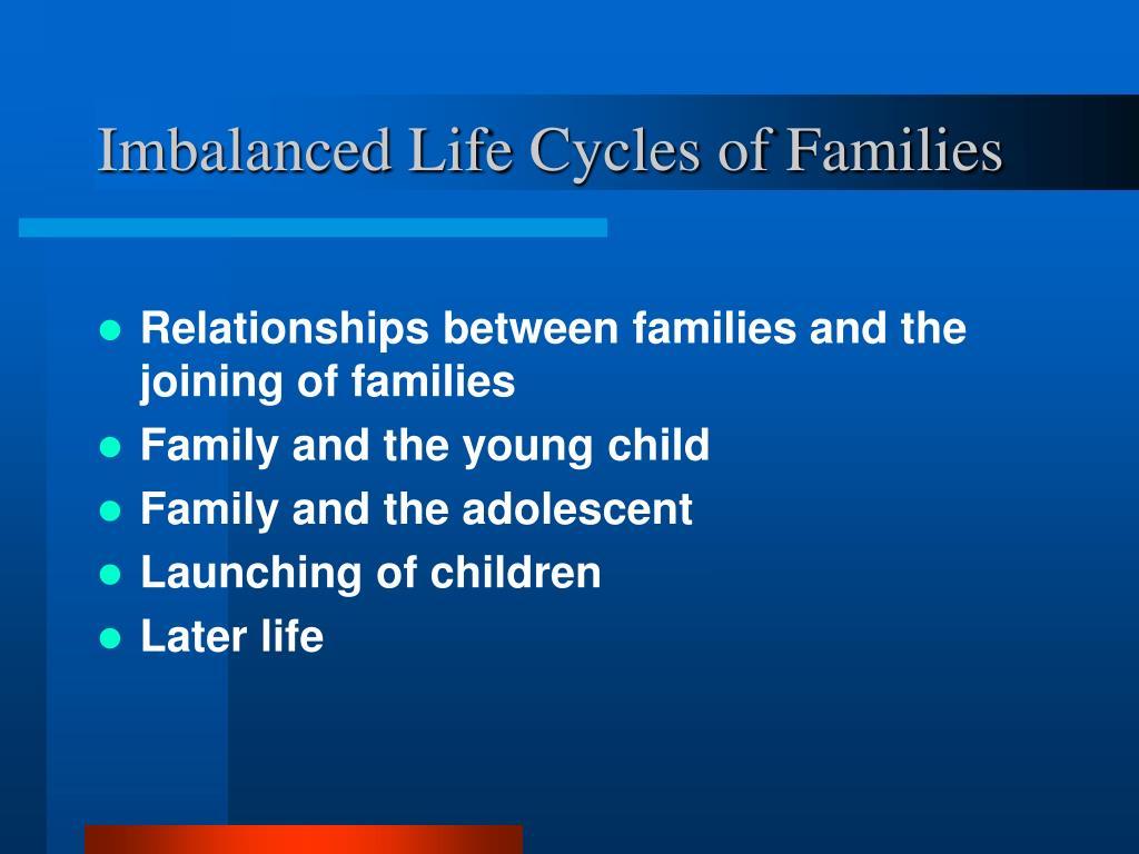Imbalanced Life Cycles of Families