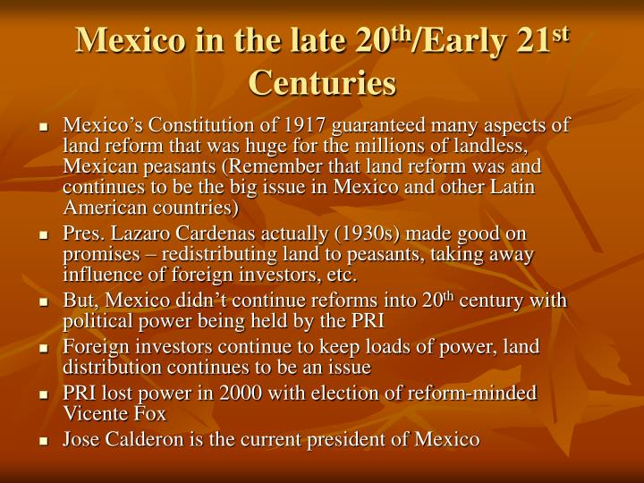 Mexico in the late 20