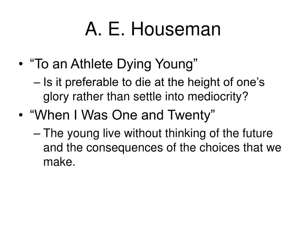A. E. Houseman