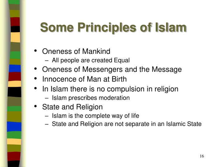 Some Principles of Islam