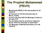 the prophet muhammad pbuh
