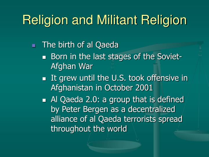 Religion and militant religion1