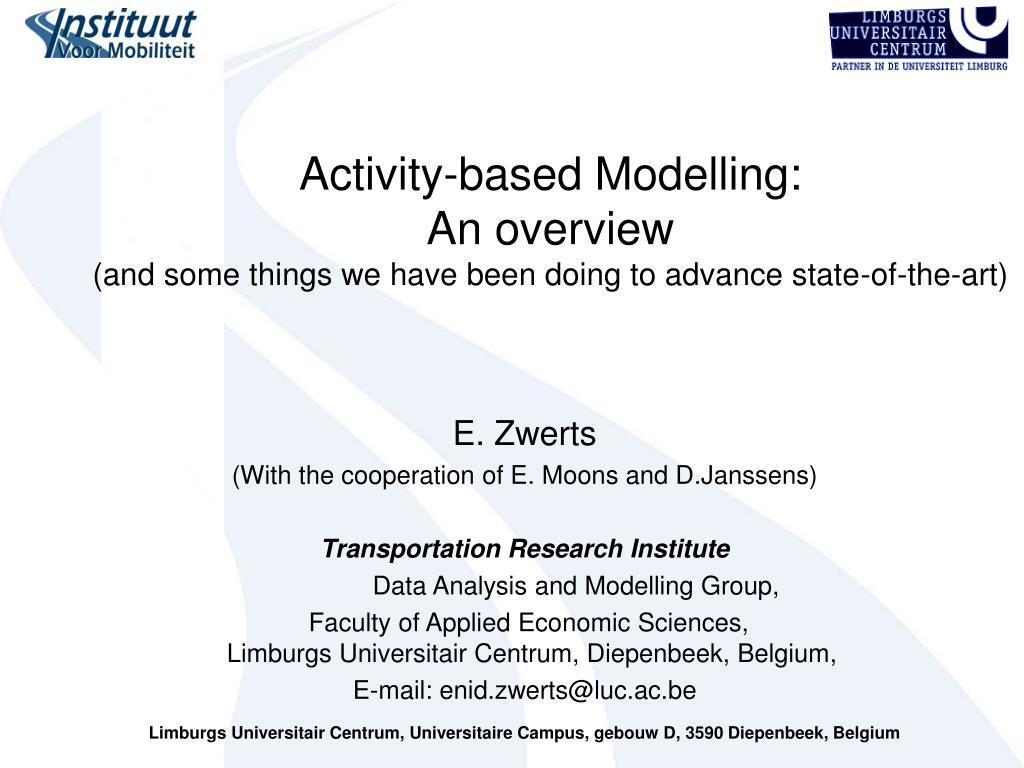 Activity-based Modelling: