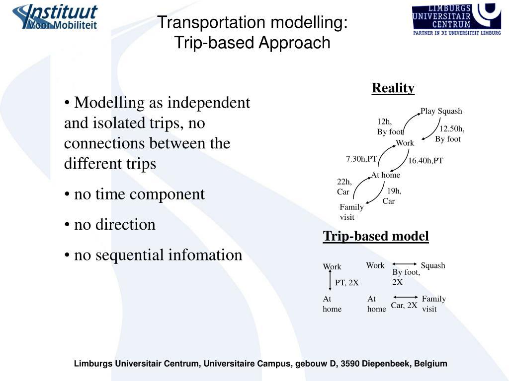 Transportation modelling: