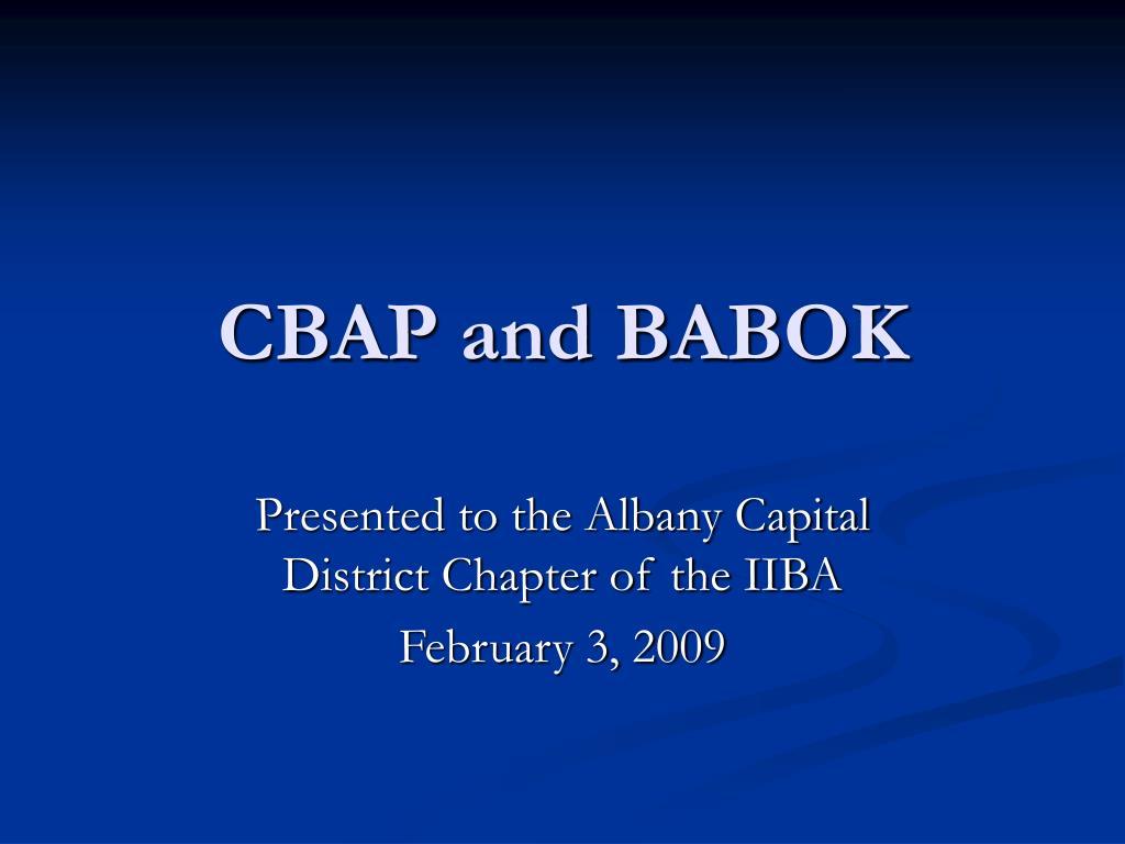 cbap and babok l.